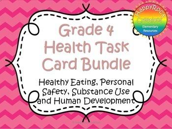 #springbackin Grade 4 Health Task Cards Bundle