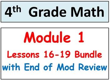 Grade 4 Math Module 1, Lessons 16-19 Bundle! Smart Board-S