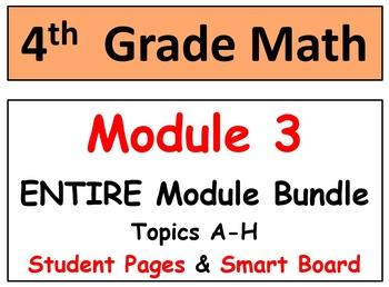 Grade 4 Math Module 3-ENTIRE Mod Bundle-Smart Bd-Student p