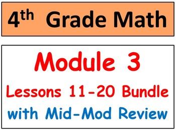 Grade 4 Math Module 3 Lessons 11-20 Smart Bd-Stud Pgs-HOT