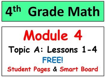 FREE-Grade 4 Math Module 4 Lessons 1-5 Smart Bd & Stud Pgs