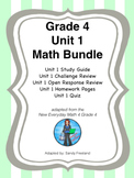 Grade 4 Math Review Bundle Adapted from Unit 1 New Everyda