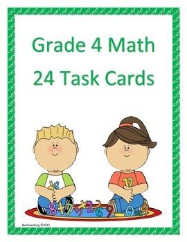 Grade 4 Math Task Cards