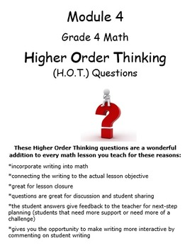 Grade 4 Module 4 Higher Order Thinking Questions/Prompts W