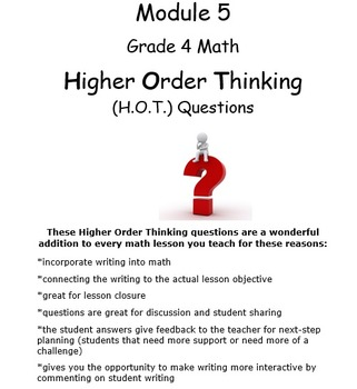 Grade 4 Module 5 Higher Order Thinking Prompts-Whole Mod B