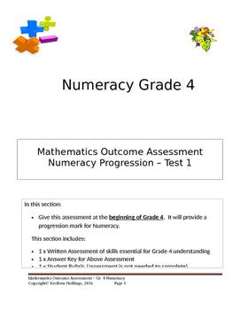 Grade 4 - Numeracy Progression Assessment