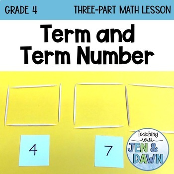 Grade 4 Ontario Math Three Part Lesson 2 Term and Term Number