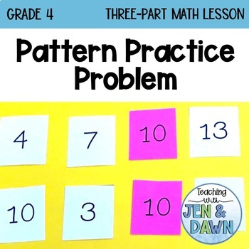 Grade 4 Ontario Math Three Part Lesson Pattern Practice