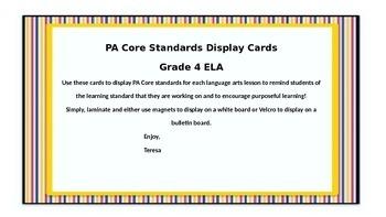 Grade 4 PA ELA Core Standards