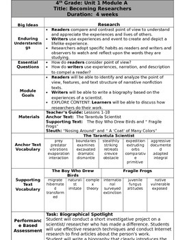 Grade 4 Ready Gen Overview Unit 1A Revised