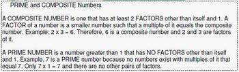 Grade 4 UNIT: Composites & PRIME numbers (4 worksheets & 7