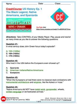 Grades 5-12 Crash Course US History Ep.1 Native Americans
