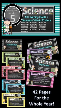 Grade 5 All SCIENCE Learning Goals/success criteria poster