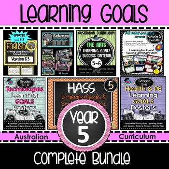 Grade 5 All Subjects AC Learning Goals & Success Criteria Posters