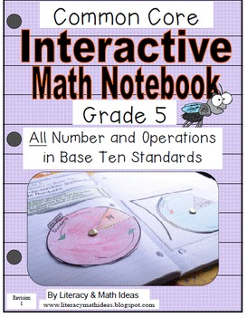 Grade 5 Common Core Interactive Notebook Number and Operat