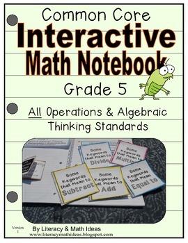 Grade 5 Common Core Interactive Notebook Operations and Al