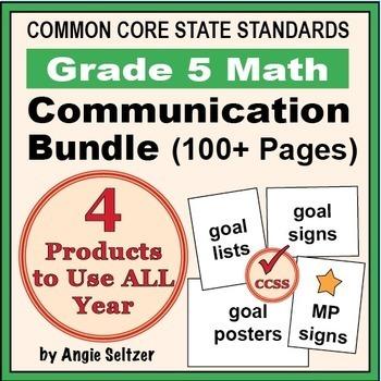 Grade 5 Common Core Math Communication Bundle (Posters, Go