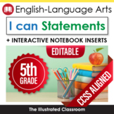 Common Core Standards I Can Statements for 5th Grade ELA -