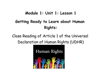 Grade 5 ELA Module 1, Unit 1, Lesson 1