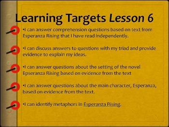 Grade 5 ELA Module 1 Unit 2 Lesson 6 Esperanza Rising