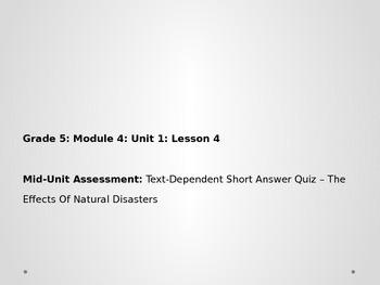 Grade 5 ELA Module 4 Unit 1 Lesson 4