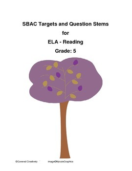 Grade 5 ELA - Reading Question Stems for SBAC