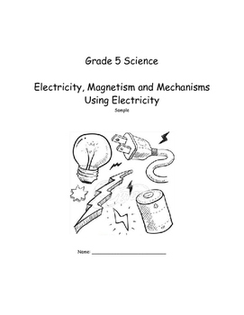 Alberta Grade 5 Electricity And Magnetism