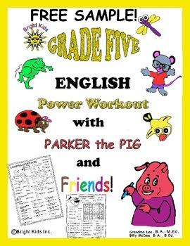 Grade 5 English Power Workout - FREE SAMPLE!