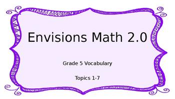 Grade 5 Envisions 2.0 Vocab Topic 1 Sample