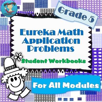 Grade 5 Math Module Application Problems Student Workbook Bundle!
