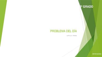 Grade 5 - GO MATH! Ch.3 Problem of the day (Spanish) / FREEBIE