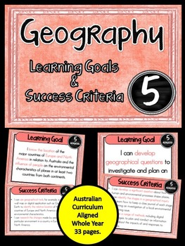 Grade 5 Geography – Aus curric Learning Goals & Success Cr