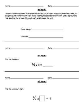 Grade 5 Go Math Exit Slips Ch.7-11 with answer key