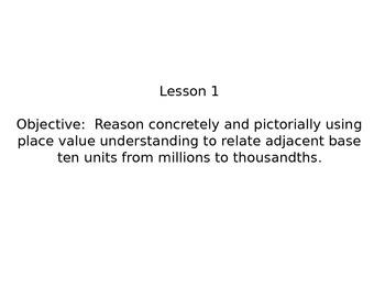 Grade 5 Math Module 1 Lesson 1 PowerPoint