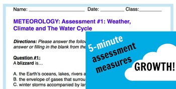 Grade 5 METEOROLOGY: Weather, Climate and The Water Cycle