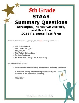 Summary Hands-On Activities Grade 5