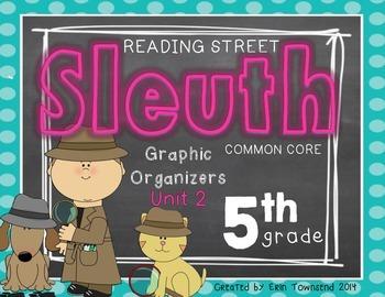 Grade 5 Unit 2 Reading Street SLEUTH Graphic Organizers