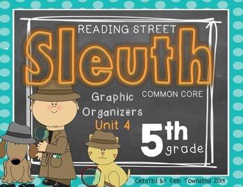 Grade 5 Unit 4 Reading Street SLEUTH Graphic Organizers
