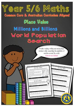Grade 5 and 6 Mathematics - Place value – Millions and Billions