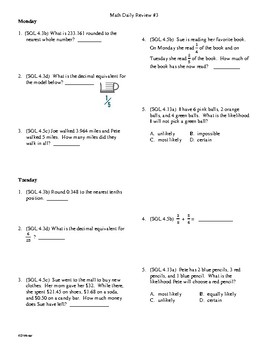 Math Daily Review Grade 5 Week 2