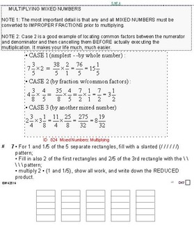 Grade 5 FRACTIONS UNIT 6: [Multiply mixed numbers]-4 works