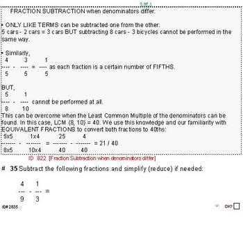 Grade 5 FRACTIONS UNIT 3: [Subtract w/different denoms]-4