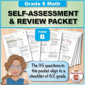 Grade 6 CCSS Math Self-Assessment and Review Packet ~ Form B