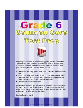 Grade 6 Common Core Math Test Prep By Standard - Practice