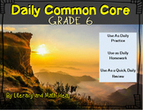 Grade 6 Daily Common Core Reading Practice Weeks 6-10 {LMI}