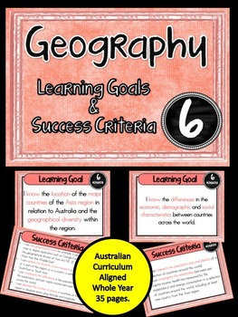 Grade 6 Geography – Aus curric Learning Goals & Success Cr