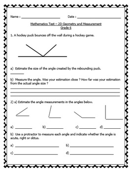 Math Tests Bundle - EDITABLE (Patterning, Measurement, Geo