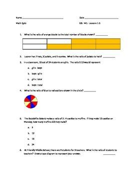 Grade 6, Module 1, Lessons 1-5 Quiz