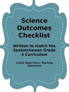 Grade 6  Science Outcome Indicators Checklist