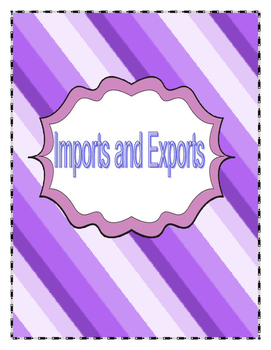 Grade 6 Social Studies -Importing and Exporting Quests + S